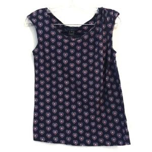 Marc by Marc Jacobs Bright Navy Heart Print Top